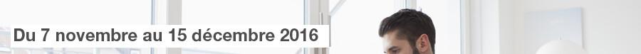 Du 07 novembre au 15 décembre 2016