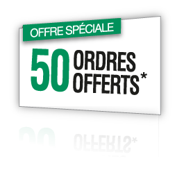50 ordres offerts*