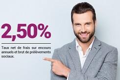 2,50% de rémunération sur le support euros de l'assurance-vie d'EasyBourse